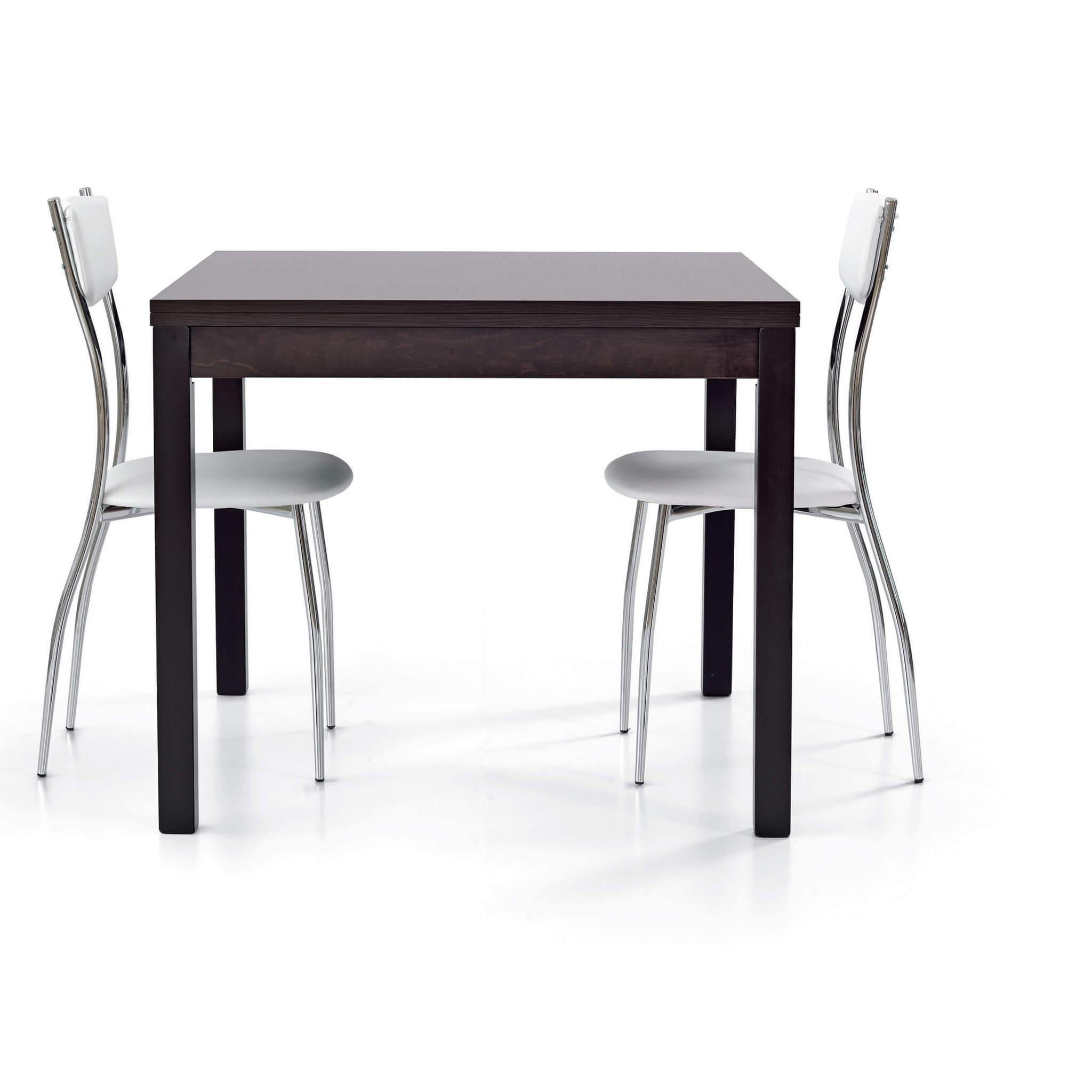 milani home garrett - tavolo da pranzo moderno allungabile a libro in rovere 90 x 90/180
