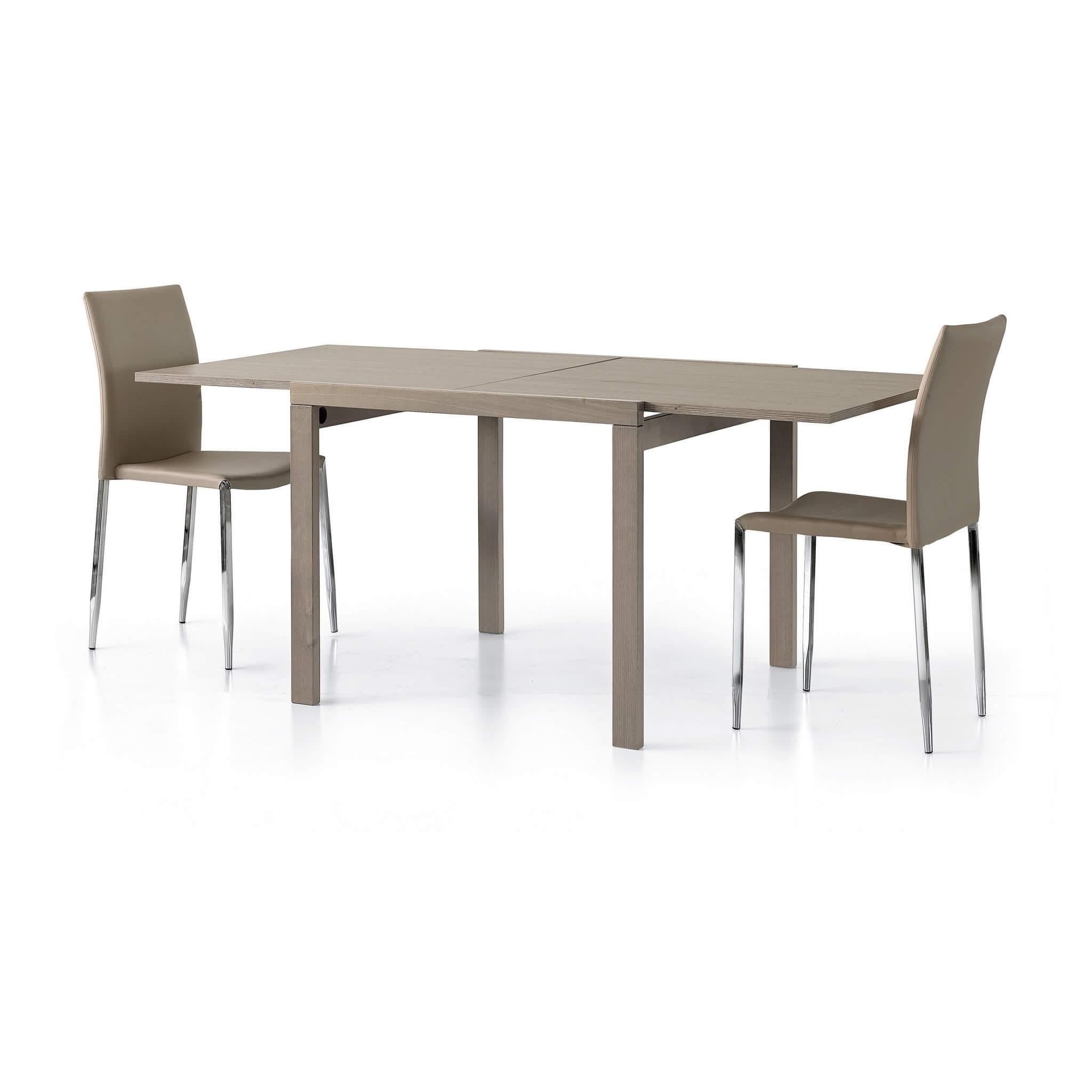 milani home meyer - tavolo da pranzo moderno allungabile a libro 90 x 90/180