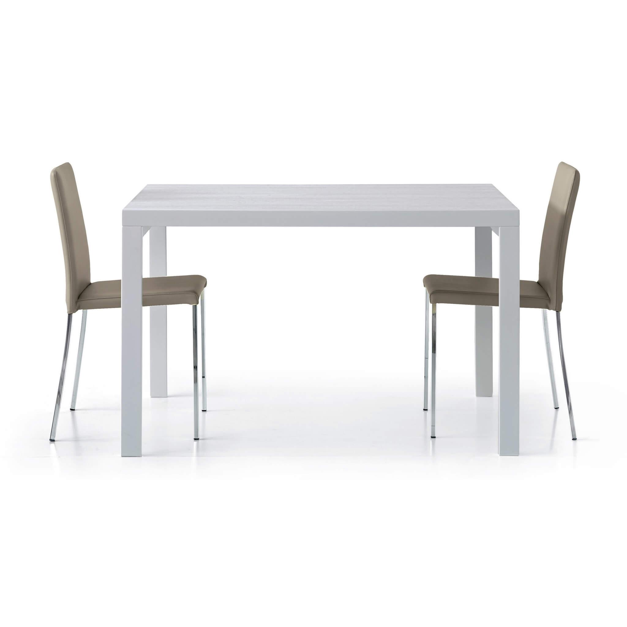 milani home maximillian - tavolo da pranzo moderno allungabile a libro frassinato 90 x 120/240