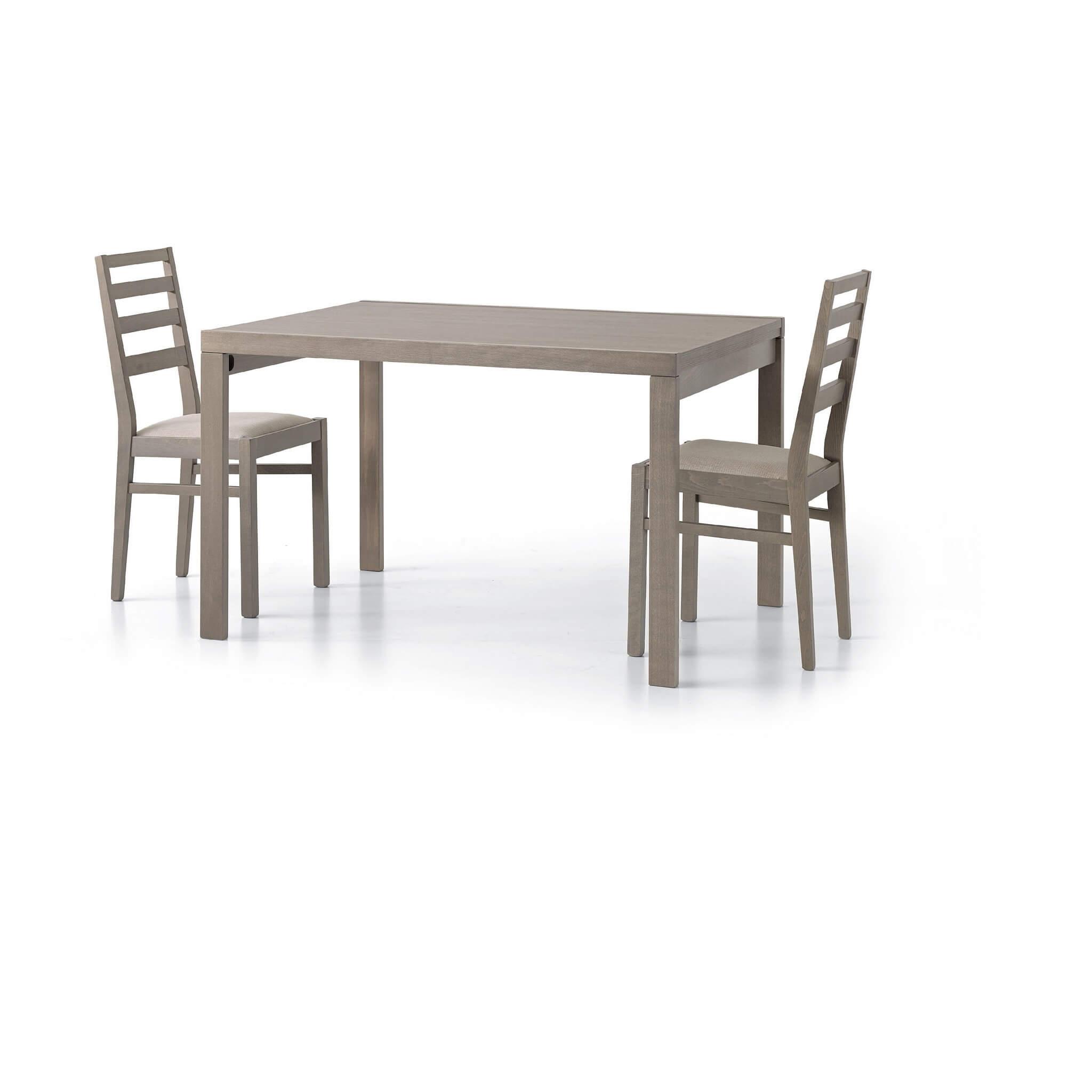 milani home reynold - tavolo da pranzo moderno allungabile a libro 90 x 120/240