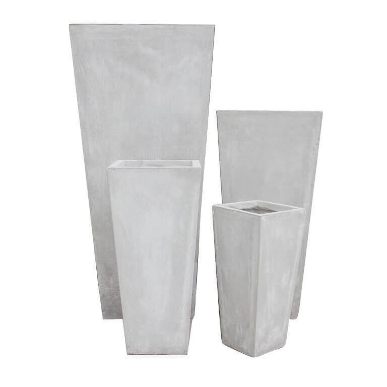 milani home set di 4 vasi da giardino