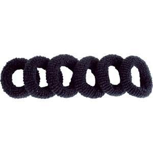 efalock professional hairstyling fasce per capelli elastici di spugna nero 6 stk.