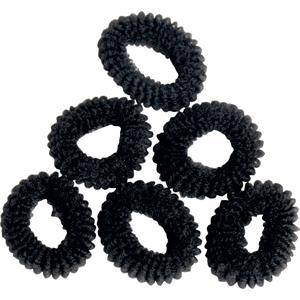 efalock professional hairstyling fasce per capelli elastici di spugna mini nero 6 stk.