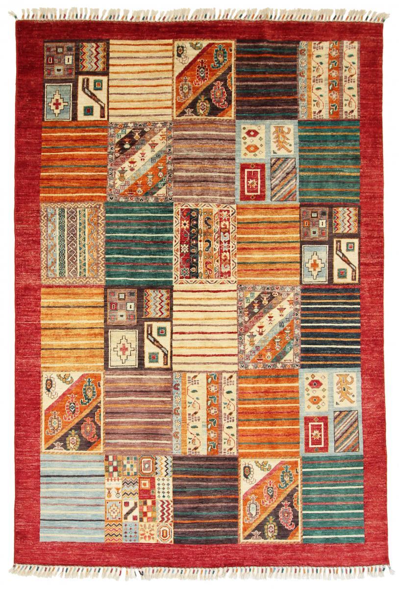 nain trading tappeto fatto a mano arijana puzzle 243x166 beige/rosa (lana, pakistan)