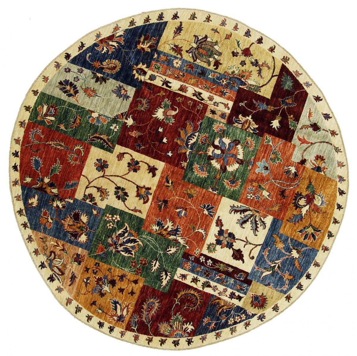 nain trading tappeto orientale arijana puzzle 201x200 rossoondo beige/marrone (pakistan, lana, annodato a mano)