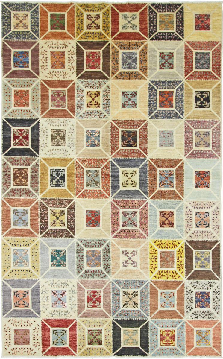 nain trading tappeto orientale arijana puzzle 306x188 beige/marrone (pakistan, lana, annodato a mano)