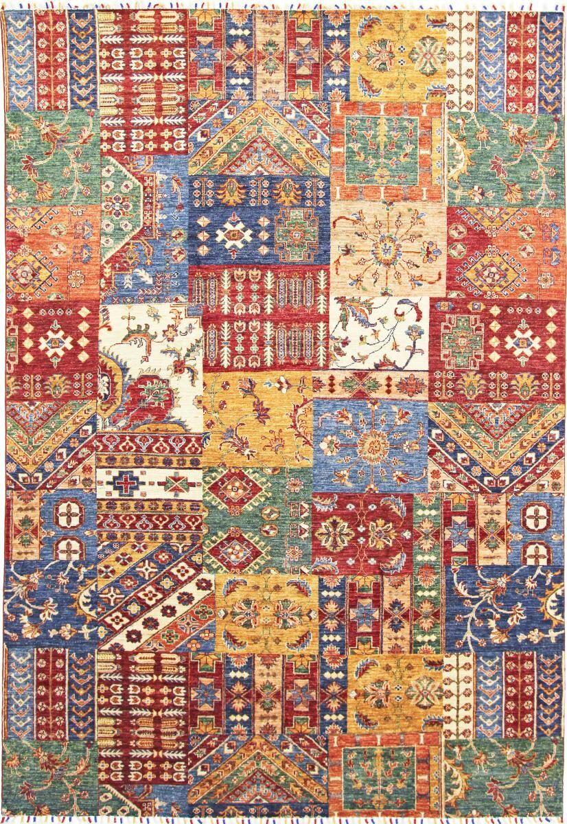 nain trading tappeto arijana puzzle 300x204 blu scuro/rosa (pakistan, annodato a mano, lana)