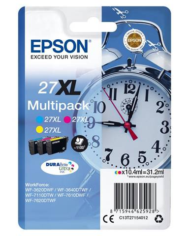 Epson Alarm clock Multipack Sveglia 3 colori Inchiostri DURABrite Ultra 27XL