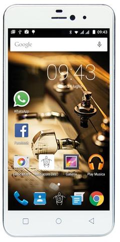 Mediacom Smartphone Mediacom PhonePad X525U 4G 16Gb Bianco, Arg ento