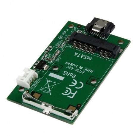 StarTech.com Adattatore SSD SATA a mSATA – Scheda convertitore porta SATA montata a Mini SATA
