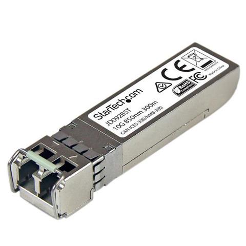 StarTech.com Modulo Ricetrasmettitore Transceiver 10 Gigabit SFP+ in fibra - Compatabile HP JD092B - MM LC con DDM - 300m