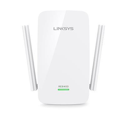 Linksys RE6400-EU Range Extender Wi-Fi Dual Band AC1200 BOOST EX, Amplificatore di Rete, N300 + AC867, Porta Gigabit Ethernet, Tecnologia Spot Finder, Bianco