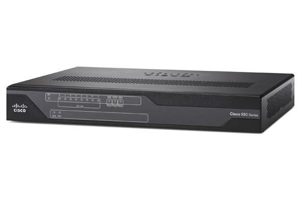 Cisco Systems C896VA-K9 Collegamento ethernet LAN ADSL2+ Nero router cablato