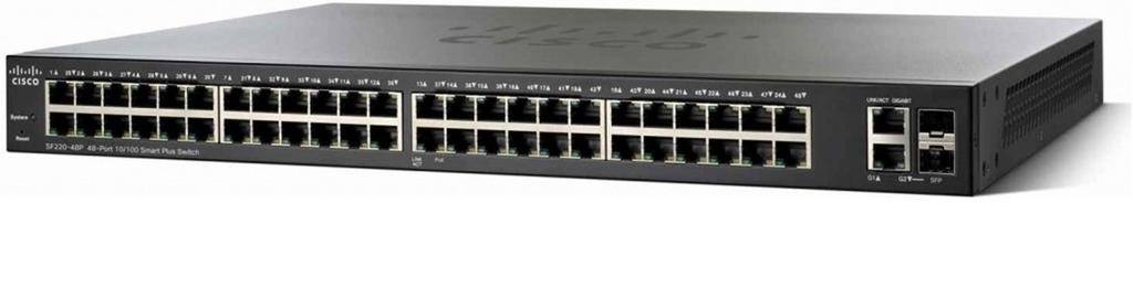 Cisco Systems Small Business SF220-48P Gestito L2 Fast Ethernet (10/100) Supporto Power over Ethernet (PoE) Nero