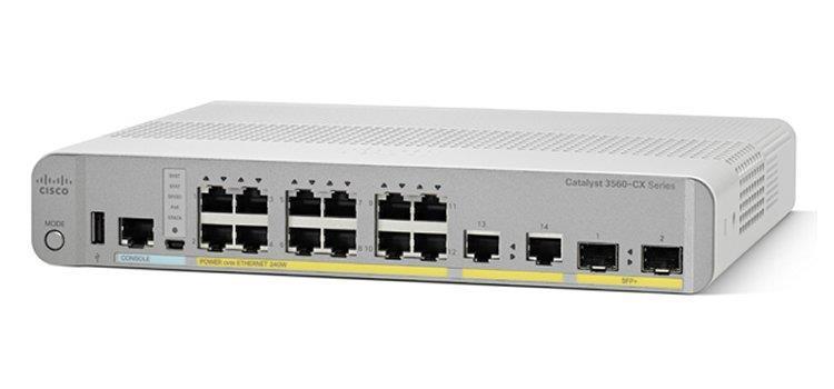 Cisco Systems Catalyst 3560-CX Gestito L3 Gigabit Ethernet (10/100/1000) Bianco 1U Supporto Power over Ethernet (PoE)