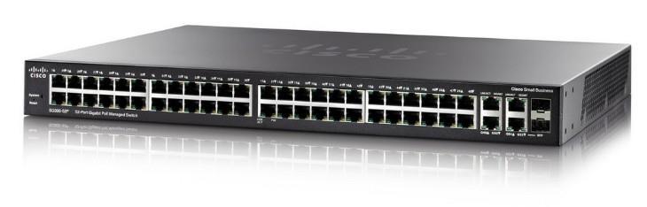 Cisco Systems SG350-52 Gestito L3 Gigabit Ethernet (10/100/1000) Nero 1U