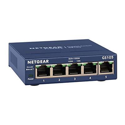 Netgear GS105GE ProSafe Switch Unmanaged Gigabit, 5 Porte 10/100/1000 Mbps