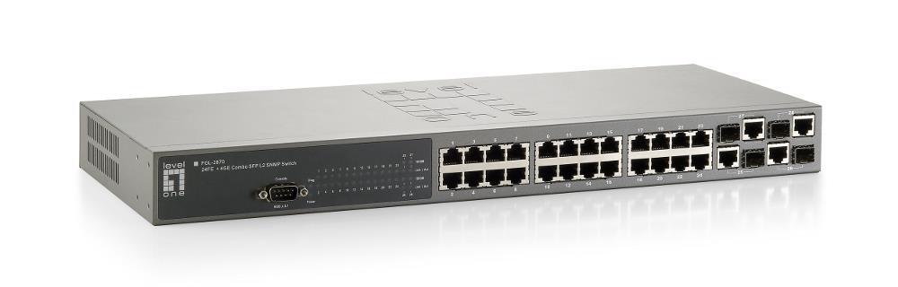 LevelOne FGL-2870 switch di rete Gestito L2 Grigio