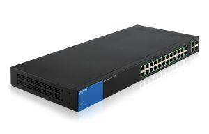 Linksys Switch di rete Linksys LGS326P Gestito Gigabit Ethernet 10/100/1000 Supporto Power over Ethernet PoE Nero Blu