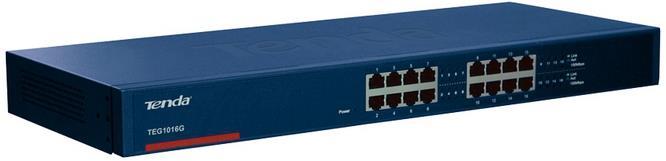 Tenda TEG1016G No gestito Gigabit Ethernet (10/100/1000) 1U Blu switch di rete