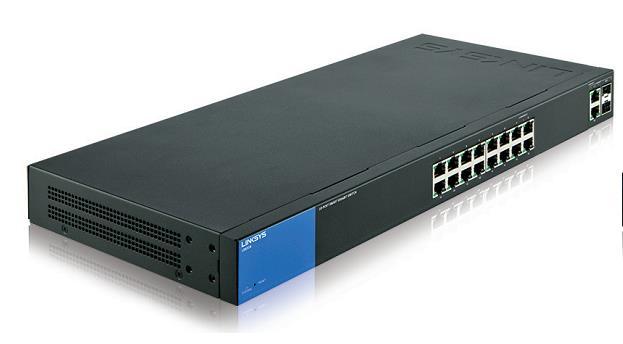 Linksys LGS318 Gestito Gigabit Ethernet (10/100/1000) Nero, Blu