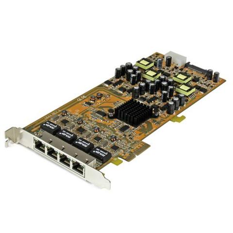 StarTech.com Scheda di rete PCIe Gigabit Power over Ethernet a 4 porte - Adattatore PCI express PSE / POE - NIC