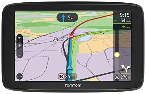 TomTom VIA 62 Navigatore satellitare Europe Traffic (13 cm/ (5 pollici) con Comandi Vocali, Mappe di 48 Paesi Europei, Nero