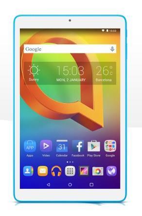 Alcatel One Touch A3 tablet Mediatek MT8127 16 GB Bianco