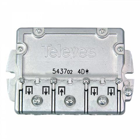 Televes 543702 cavo splitter o combinatori Splitter per cavo Acciaio inossidabile