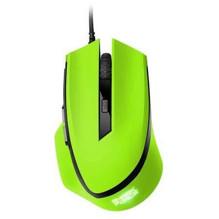 Sharkoon SHARK Force USB Ottico 1600DPI Verde Mano destra