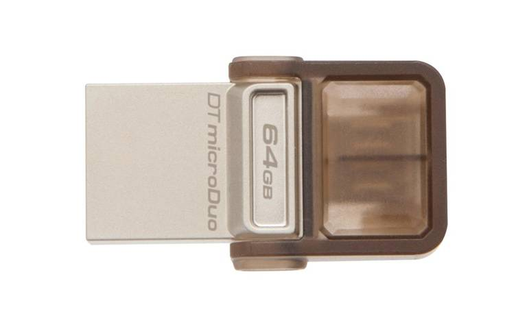 Kingston Technology DataTraveler microDuo OTG 64Gb 64Gb USB 2.0 Tipo-A Marrone unità Flash USB