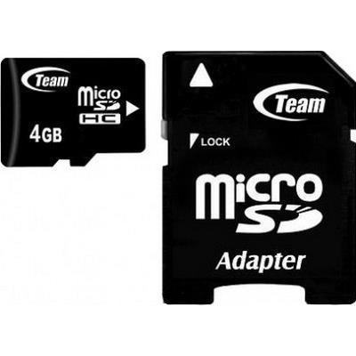 Team Group microSDHC 4GB memoria flash 2 GB Classe 10