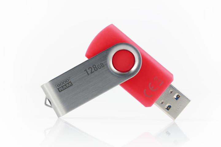 Goodram UTS3-1280R0R11 unità flash USB 128 GB USB tipo A 3.2 Gen 1 (3.1 Gen 1) Rosso, Argento