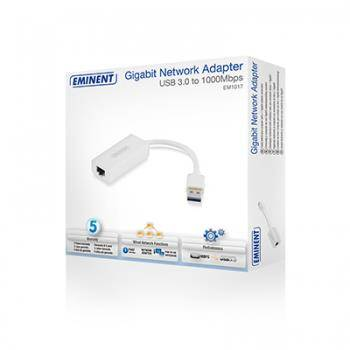 Eminent EM1017 USB RJ45 Bianco cavo di interfaccia e adattatore