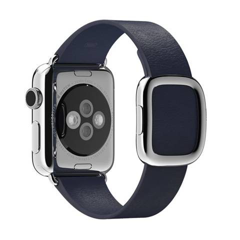 Apple MJ5A2ZM/A accessorio per smartwatch Band Blu Pelle: prezzo