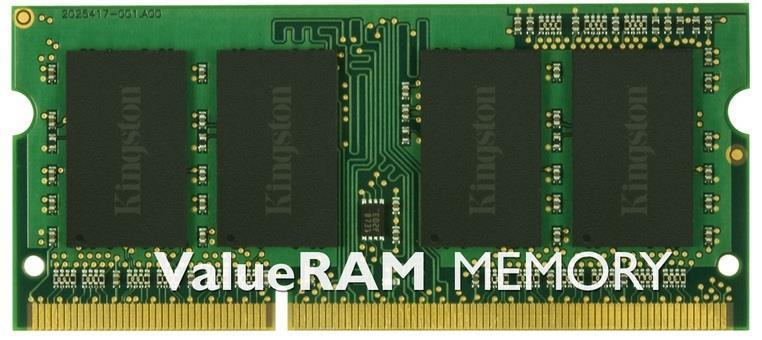 Kingston Memoria RAM Kingston Technology ValueRAM 8GB DDR3 1333MHz Module 8GB DDR3 1333MHz