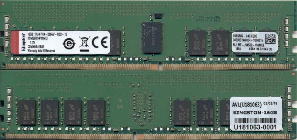 Kingston Technology KSM26RS4/16MEI memoria 16 GB DDR4 2666 MHz Data Integrity Check (verifica integrità dati)