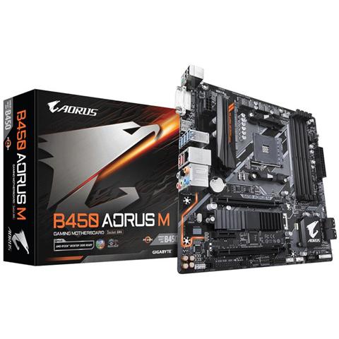 Gigabyte B450 AORUS M (rev. 1.0) Presa AM4 micro ATX AMD B450