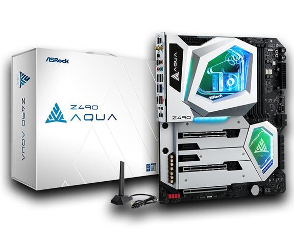 ASRock Z490 Aqua ATX esteso Intel Z490