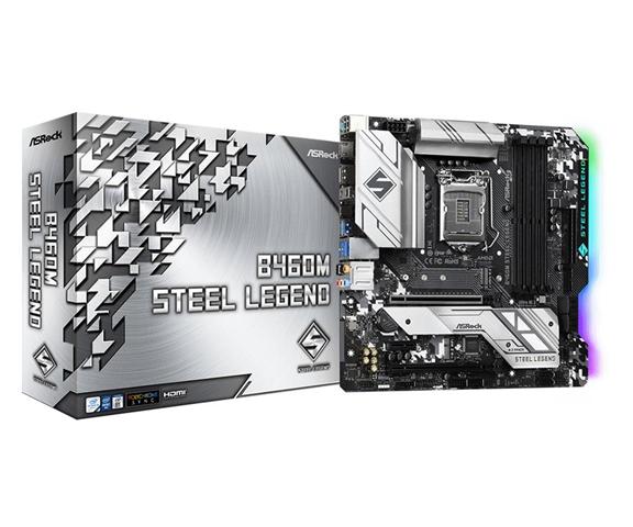 ASRock B460M Steel Legend LGA 1200 Micro ATX Intel B460