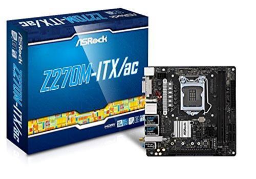 ASRock Z270M-ITX/AC Scheda Madre, Grigio