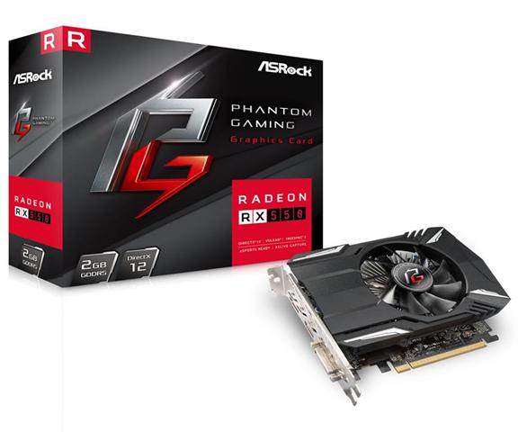ASRock 90-GA0500-00UANF Radeon RX 550 2GB GDDR5 scheda video