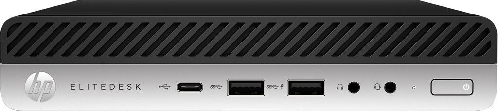 HP EliteDesk 800 G4 Intel Core i5 di ottava generazione i5-8500 16 GB DDR4-SDRAM 2000 GB HDD Mini PC Nero, Argento Windows 10 Pro