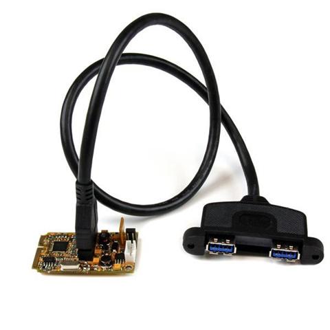 StarTech.com Scheda adattatore Mini PCI Express SuperSpeed USB 3.0 a 2 porte con kit di staffe e supporto UASP