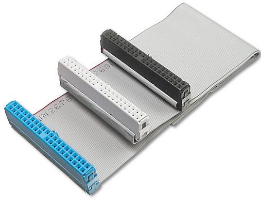 Cavo dati ultra ata 3 connettori 40 poli ultra ata 33-66-100 cm.60 - 80 conduttori (ak-ata-100/1)