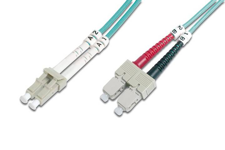 Digitus DK-2532-03/3 cavo a fibre ottiche 3 m OM3 LC SC Blu