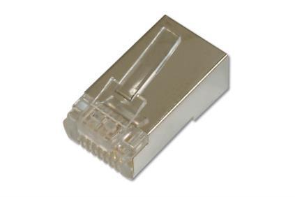 ASSMANN Electronic AK-219603 cavo di collegamento RJ-45 Nichel, Trasparente
