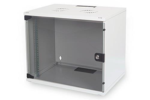 Digitus ARM003 Armadio 9 Unit� da Muro Linea Eco 460 X 540 X 400 mm da Assemblare, Grigio Chiaro