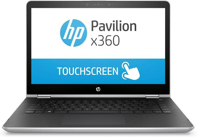 HP Pavilion x360 14-ba033nl Ibrido (2 in 1) Argento 35,6 cm (14