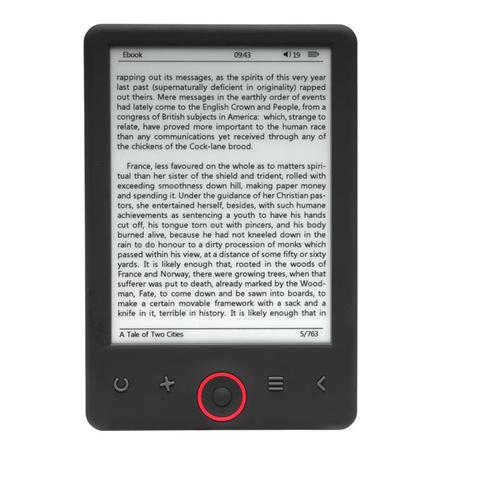 Denver EBO-630L lettore e-book 4 GB Nero